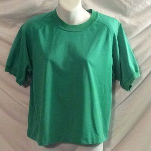 Vintage 1990s green cropped T-shirt